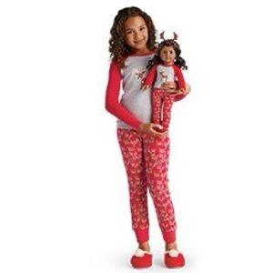 AMERICAN GIRL Festive Reindeer PJs